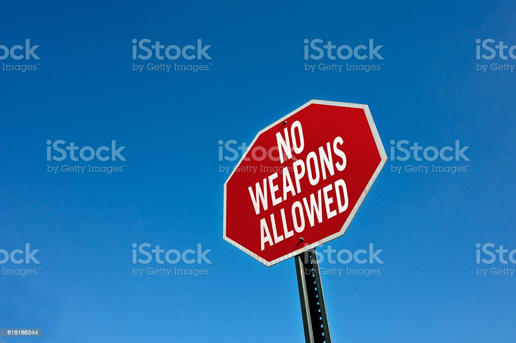 No weapons allowed stock photo