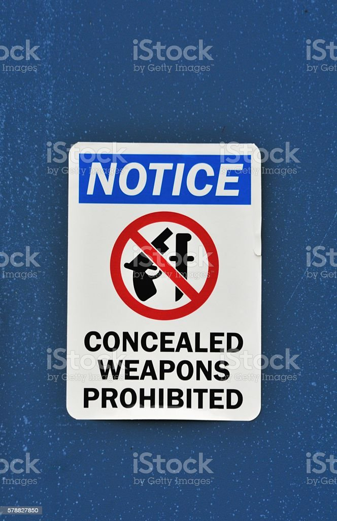 No Weapons Sign stock photo