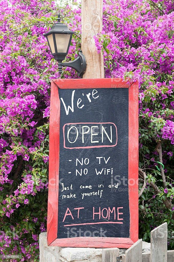 No wifi no tv stock photo