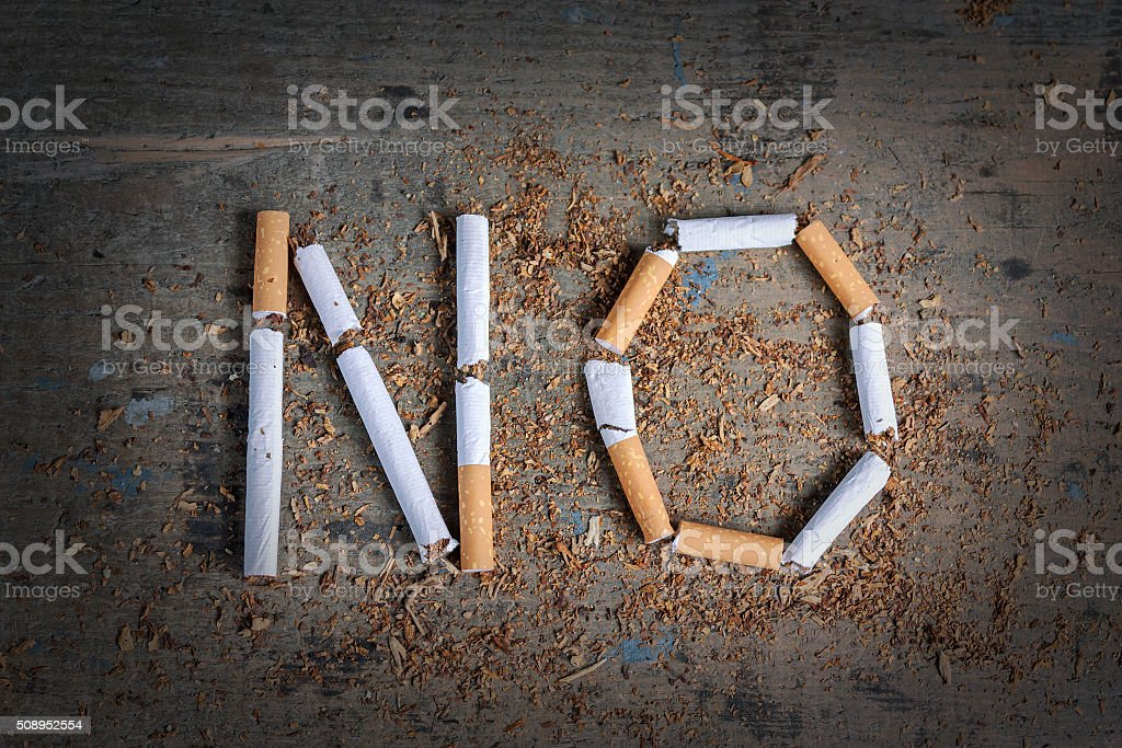 No word of a cigarette stock photo