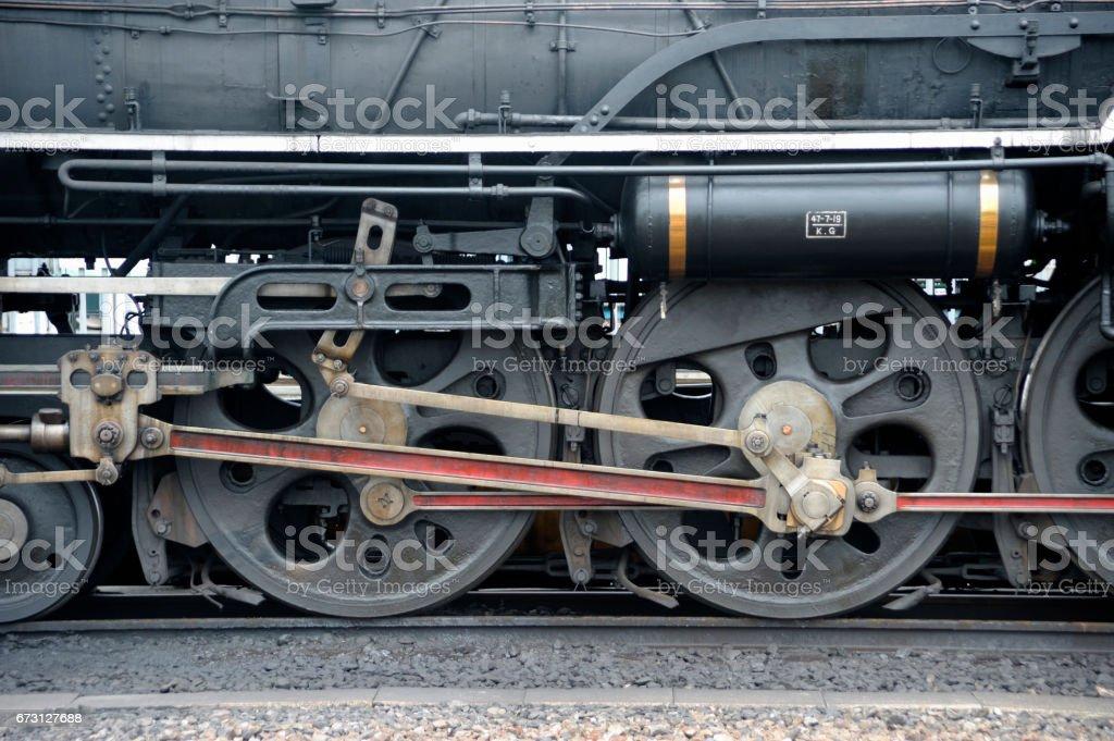 C61 No.2 machine locomotive car wheel stock photo