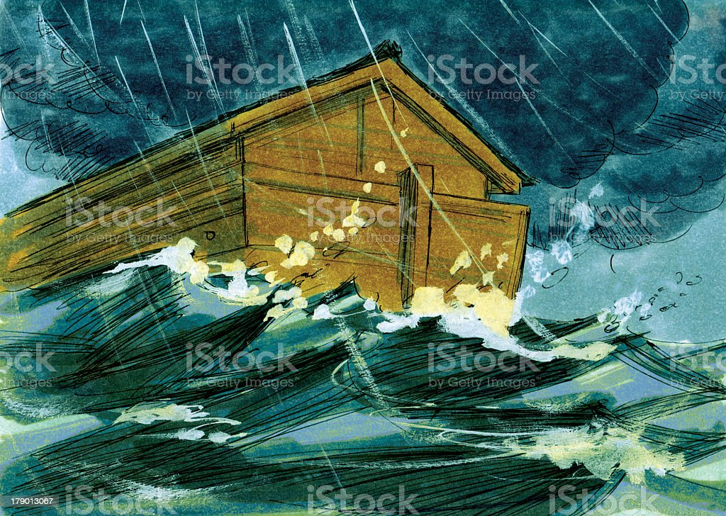 Noah and the Great Flood royalty-free stock photo