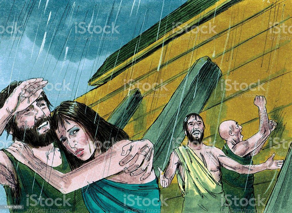 Noah and the Rain stock photo