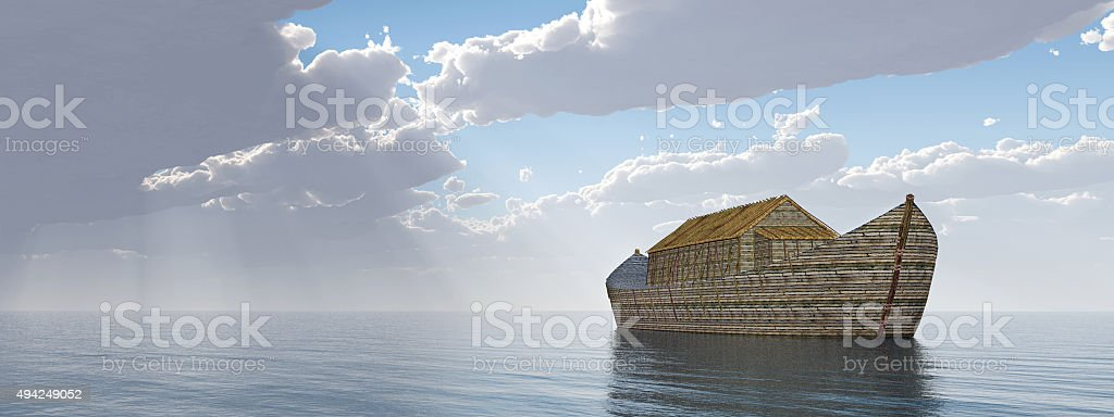 Noah's Ark after the storm stock photo