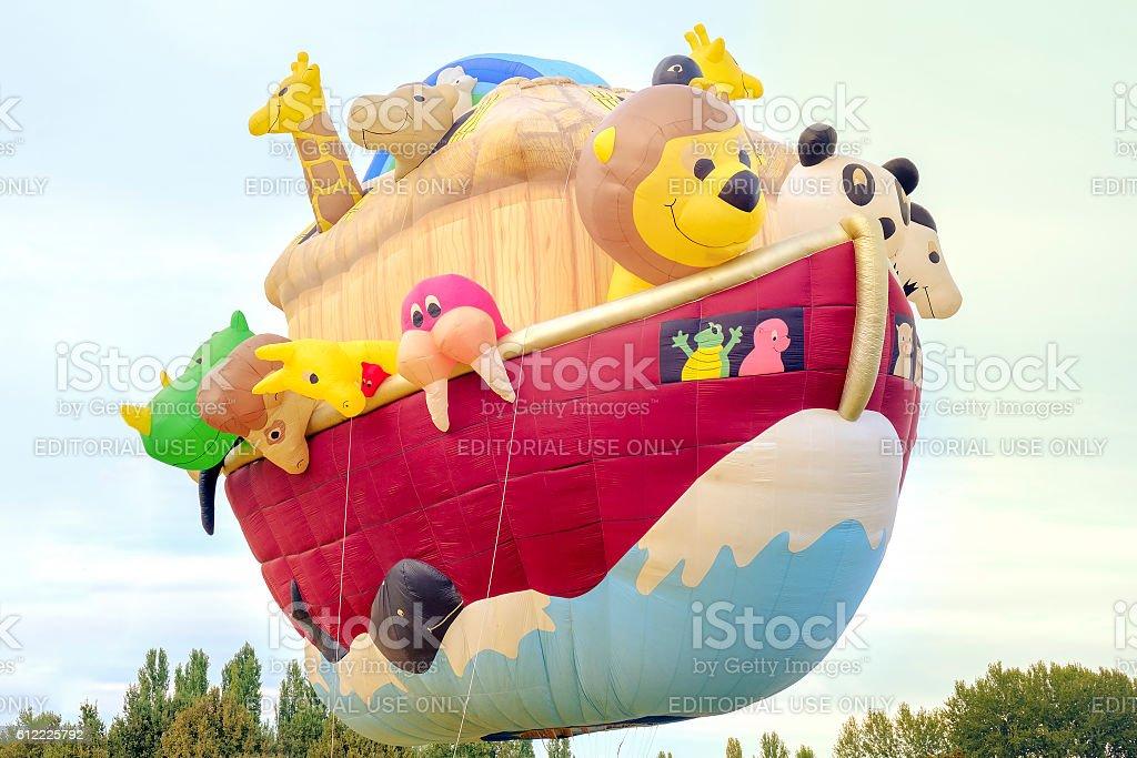 Noah's Ark hot air balloon stock photo