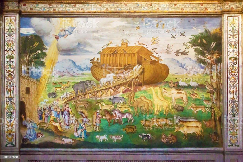 Noah's Ark on italian fresco stock photo