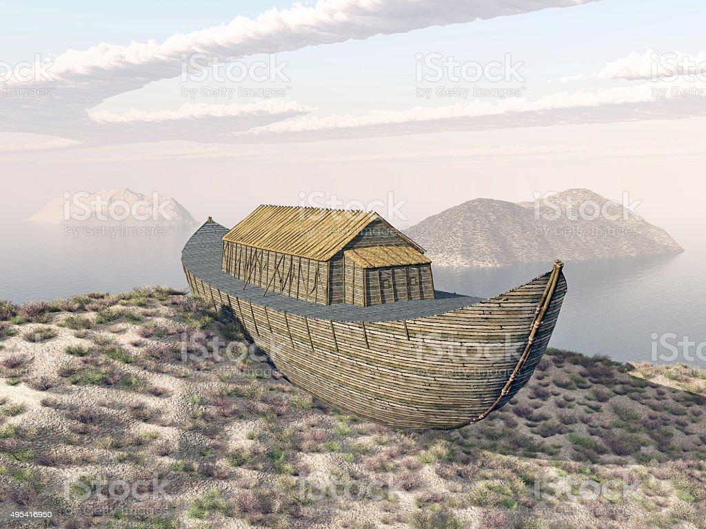 Noah's Ark on Mount Ararat stock photo