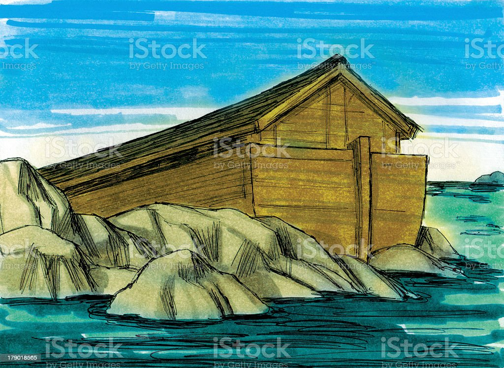 Noah's Ark Rests on Land stock photo