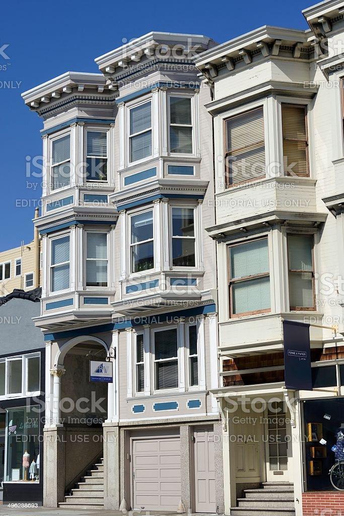 Nob Hill, San Francisco Architecture stock photo