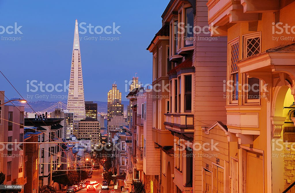 Nob Hill, San Francisco stock photo