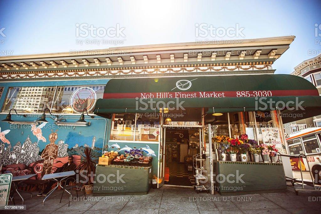 Nob Hill's Finest Market, San Francisco stock photo