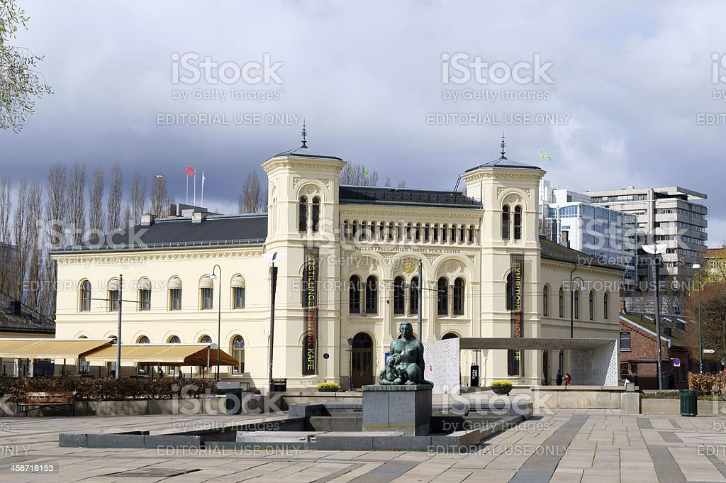 Nobel Peace center building in Oslo, Norway stock photo