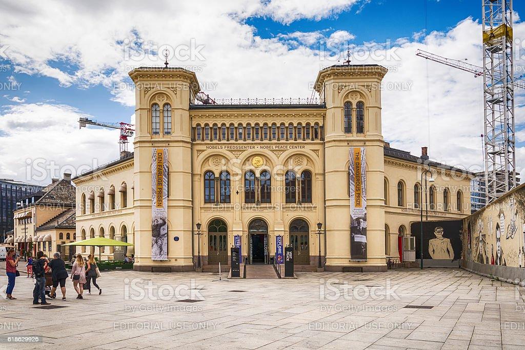 Nobel Peace Center in Oslo stock photo