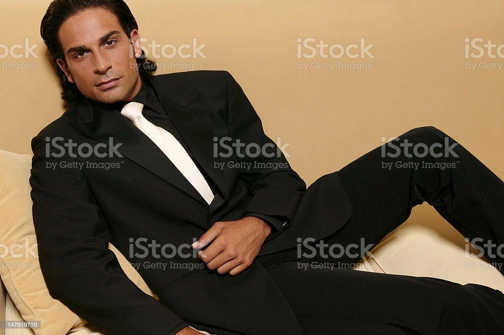 noble dressed gigolo stock photo