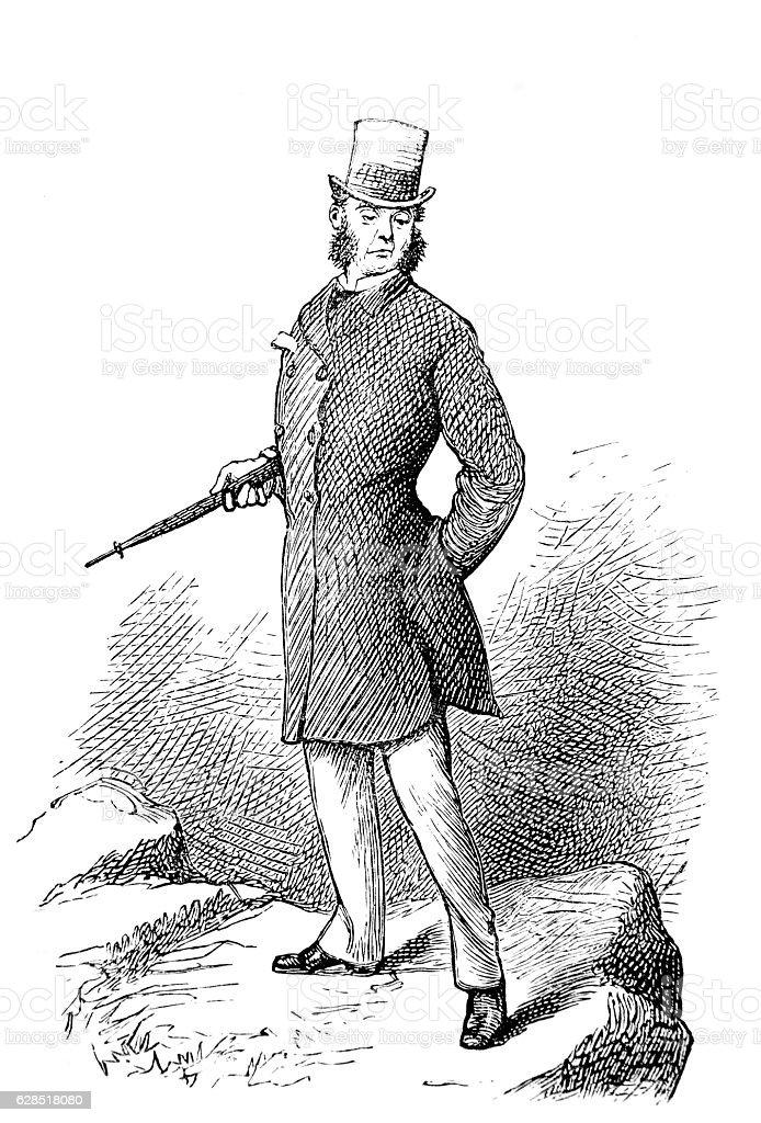 Noble Man Poses - Oscar of Alva stock photo