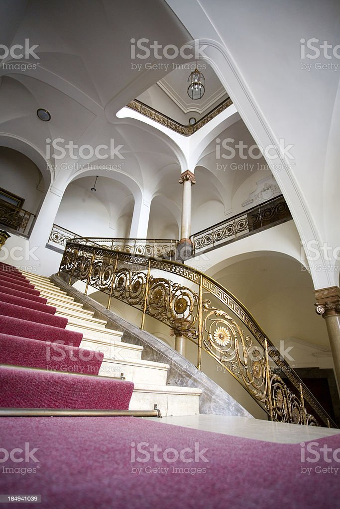 noble stairway royalty-free stock photo