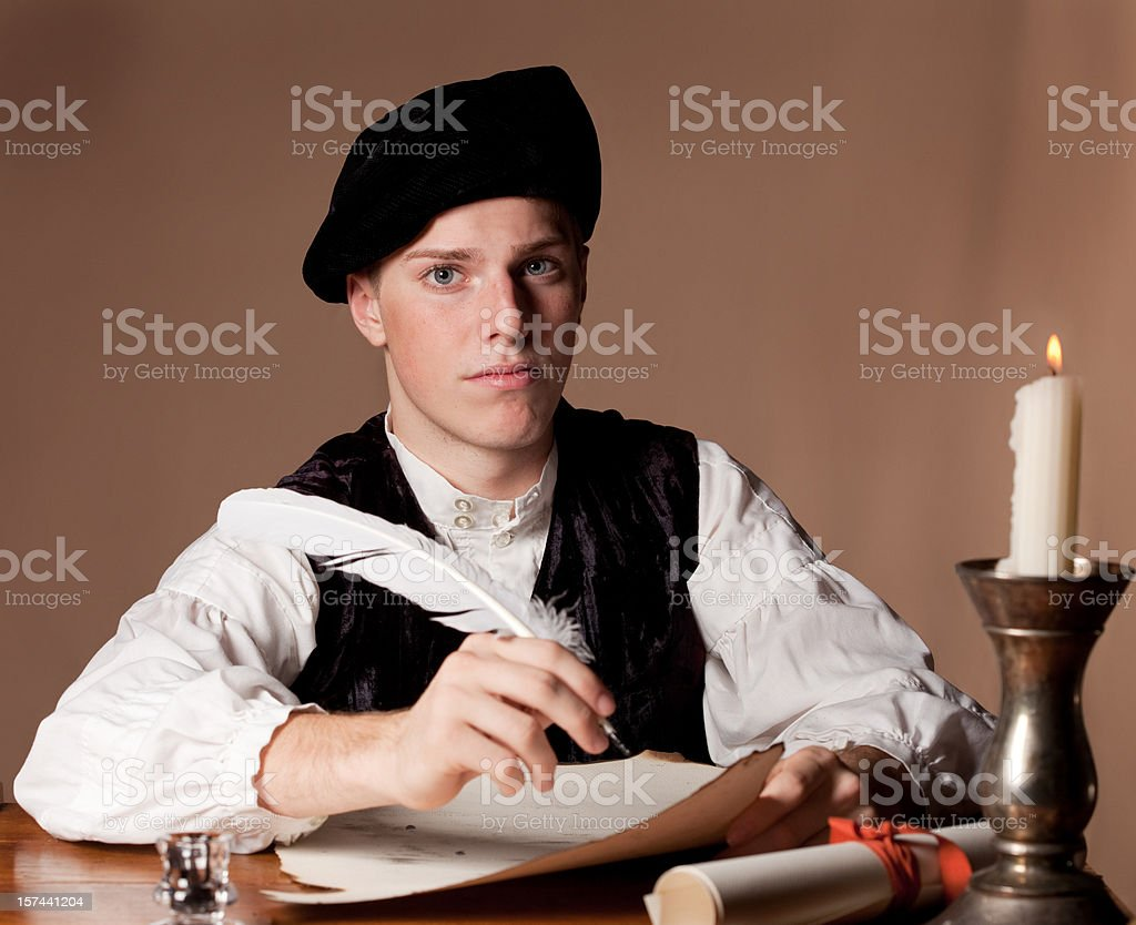 Nobleman working royalty-free stock photo