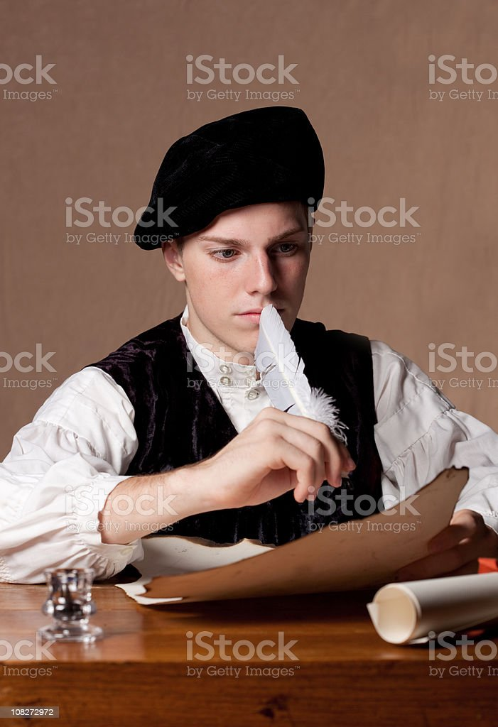 Nobleman Writing royalty-free stock photo