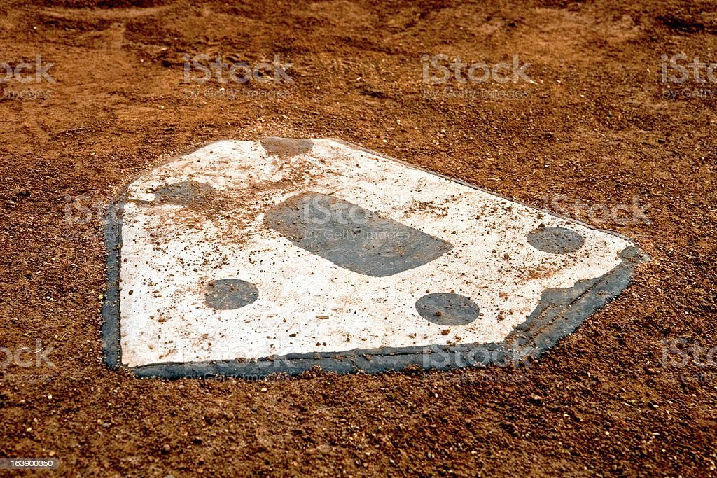 nobody at home plate royalty-free stock photo