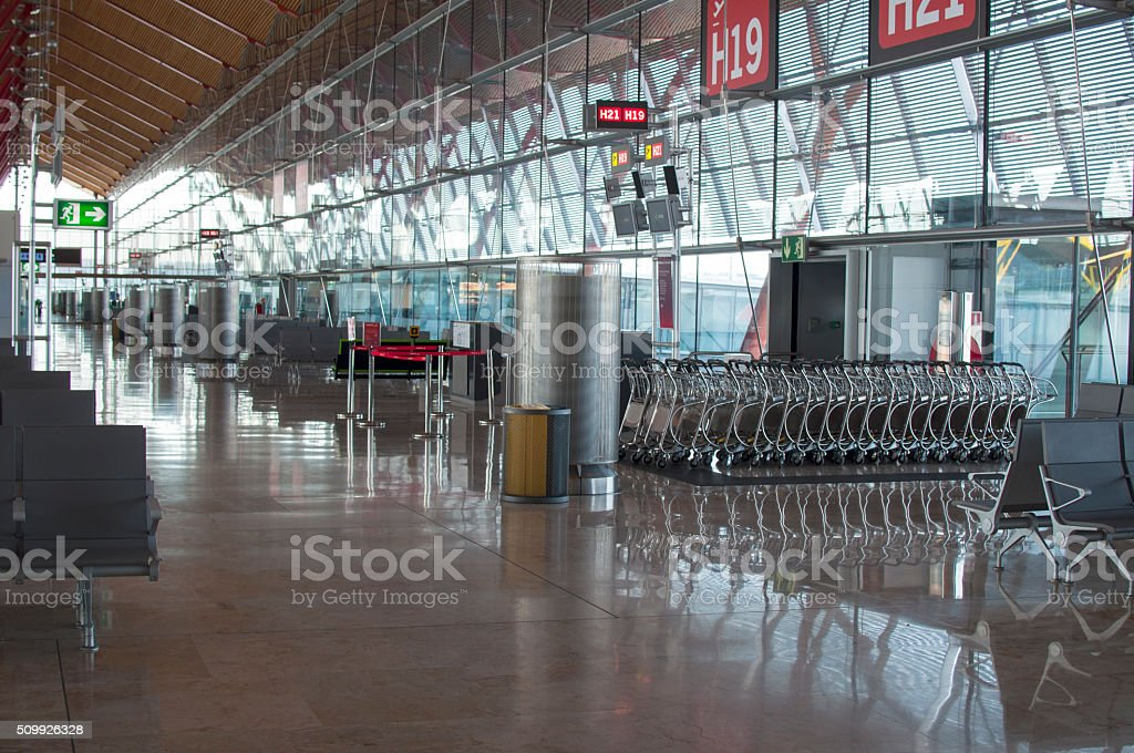 Nobody at the Airport stock photo