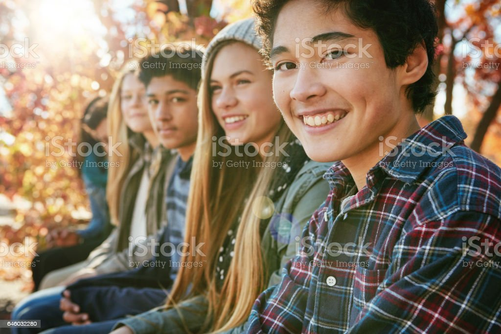 Nobody makes me smile like my friends do stock photo