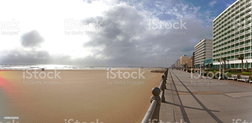 Nobody on Virginia Beach Boardwalk stock photo