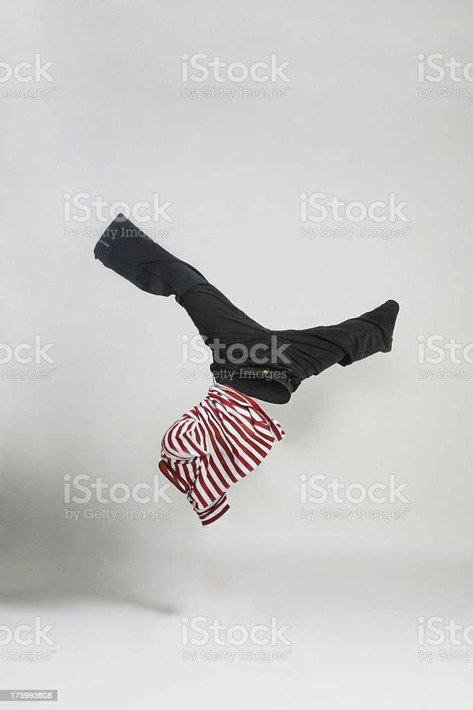 NoBody Series - man upside down 2 royalty-free stock photo