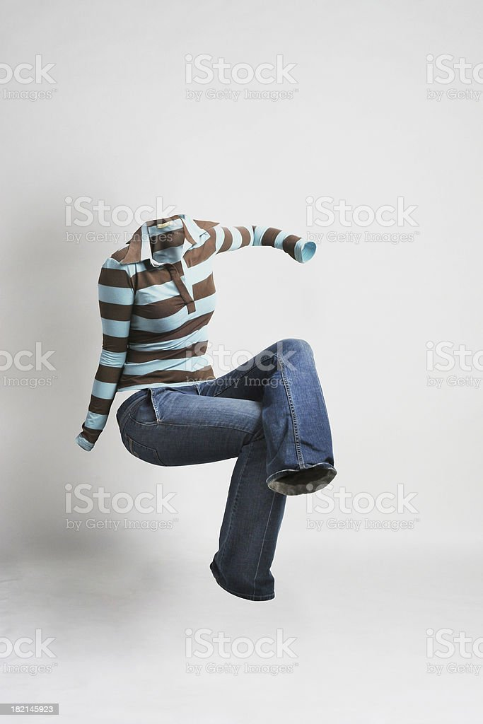NoBody Series - woman sitting down stock photo