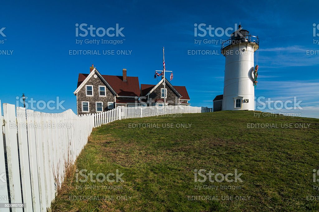 Nobsca Light and Fence stock photo