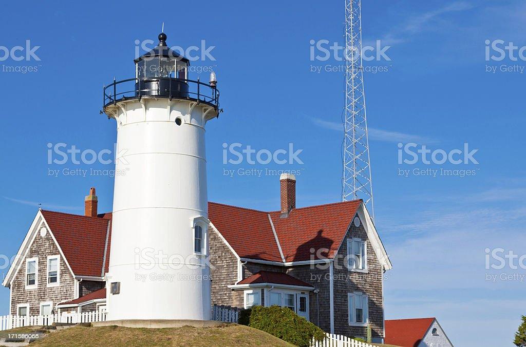 Nobska Lighthouse, Cape Cod, Ma royalty-free stock photo