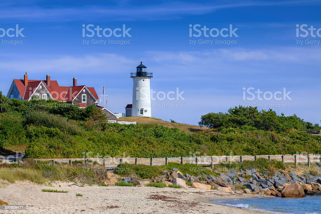Nobska Lighthouse, Cape Cod, Massachusetts. stock photo