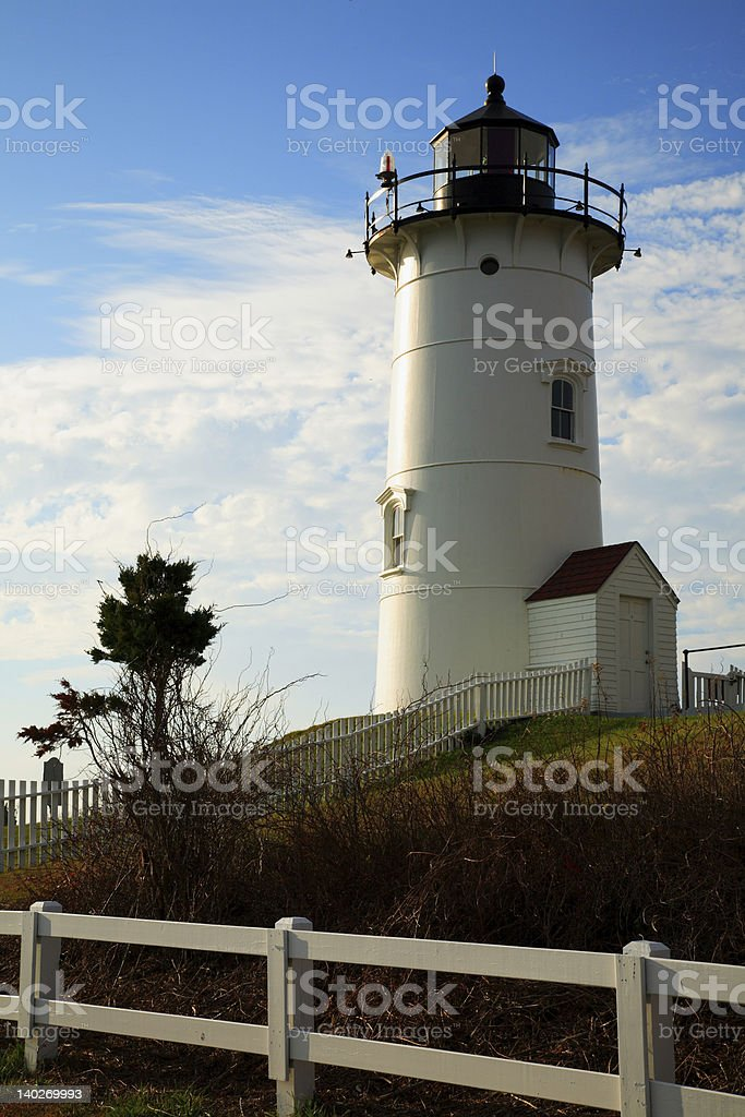 Nobska Lighthouse, Cape Cod royalty-free stock photo