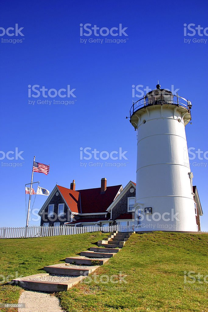 Nobska Lighthouse, USA royalty-free stock photo