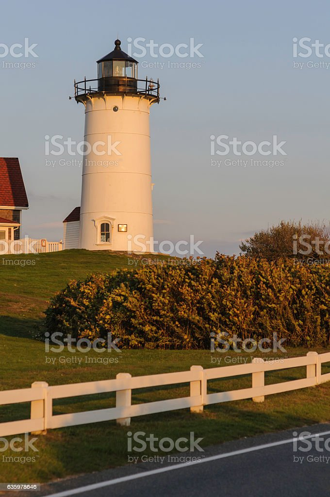 Nobska Point Lighthouse late afternoon stock photo