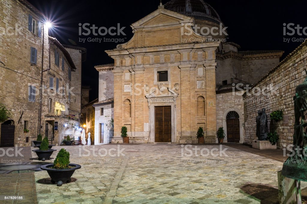 Nocturnal view of Chiesa Nuova stock photo