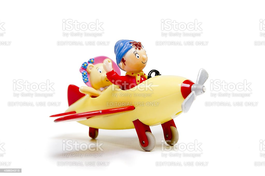 Noddy and Tessie Bear go flying stock photo