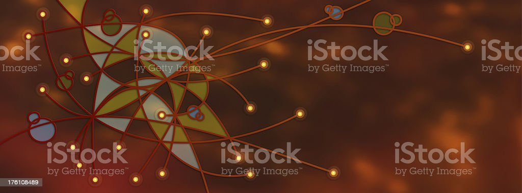 Nodes, Connections, Links, Network 4 royalty-free stock photo