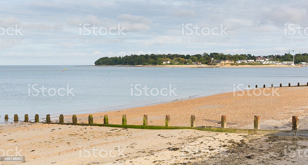 Nodes Point St Helens Isle of Wight to Bembridge harbour stock photo