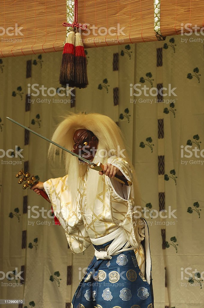 Noh performance stock photo