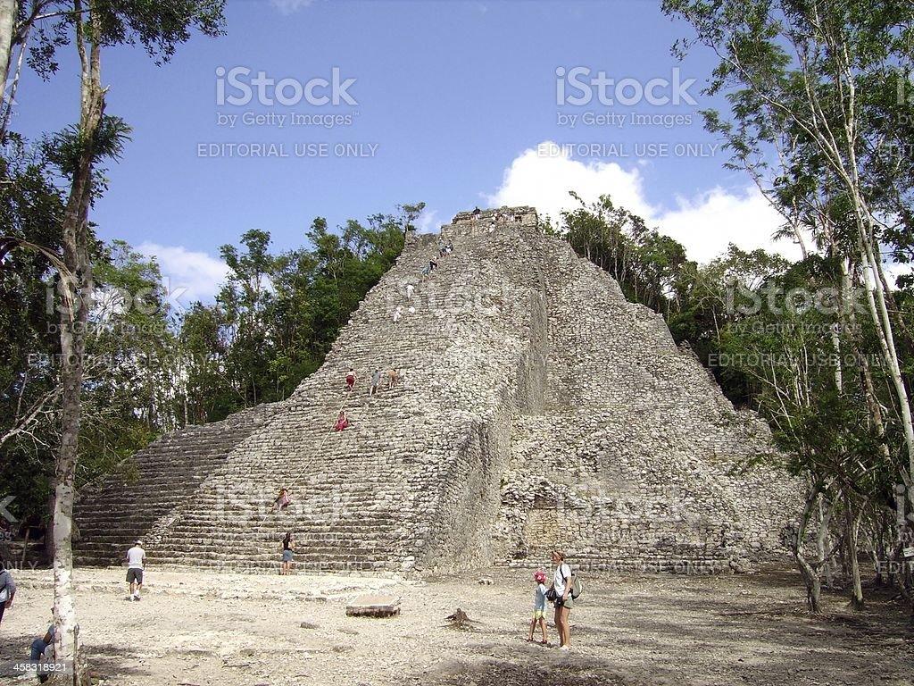 Nohoc Mul pyramid - Coba, Mexico stock photo