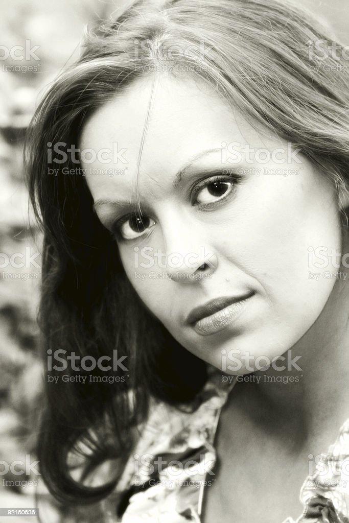 noir girl stock photo