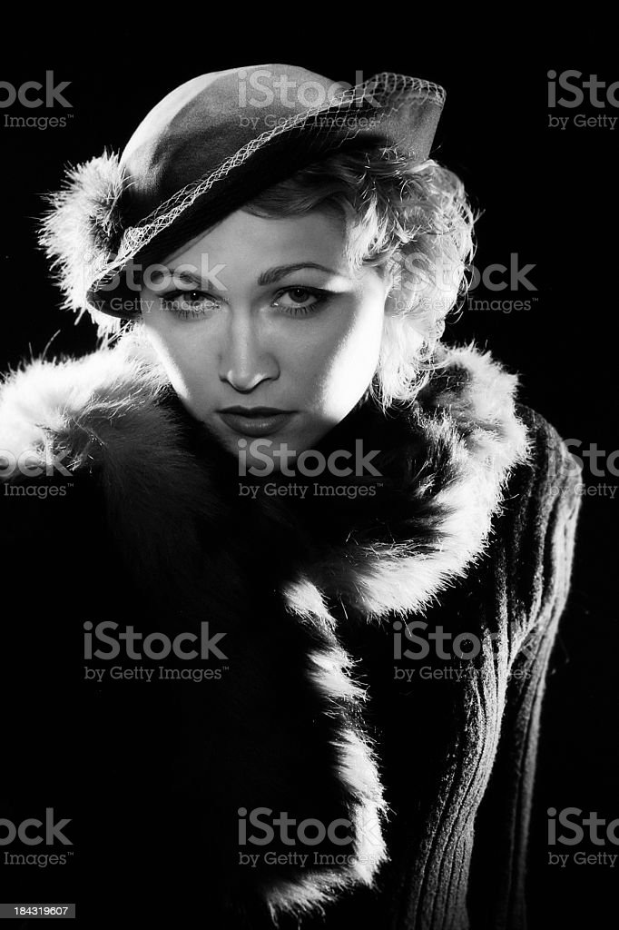 Noir Style. Actress. royalty-free stock photo
