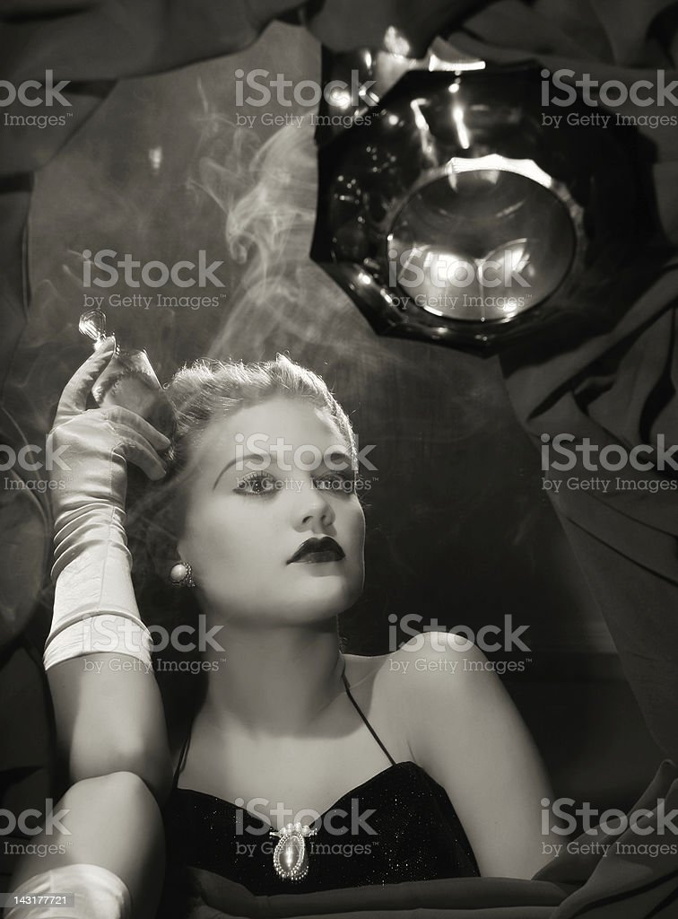 Noir style.Black thoughts stock photo