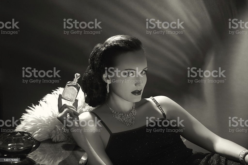 Noir Style.New fragrance stock photo