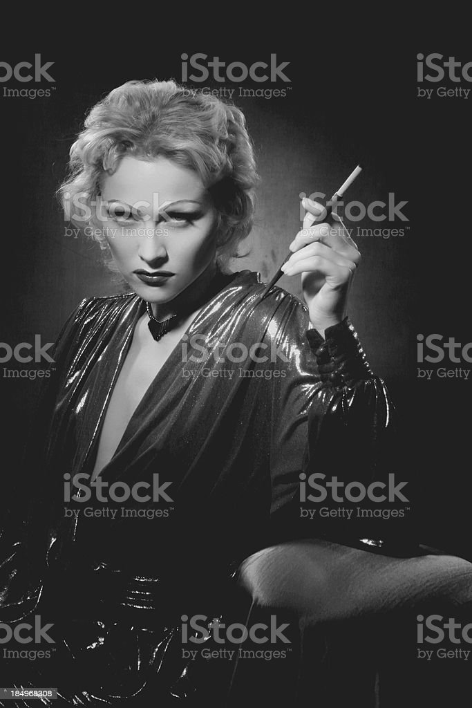 Noir style.Tribute to Dietrich. stock photo