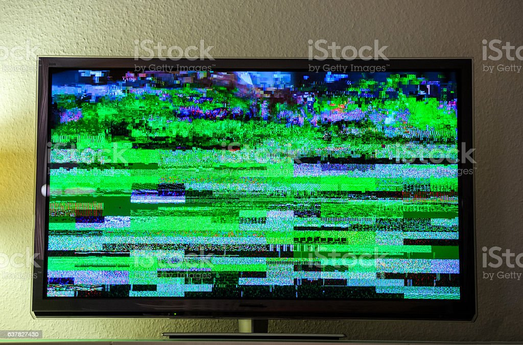 TV noise bad signal dbvt signal Digital Video Broadcasting stock photo
