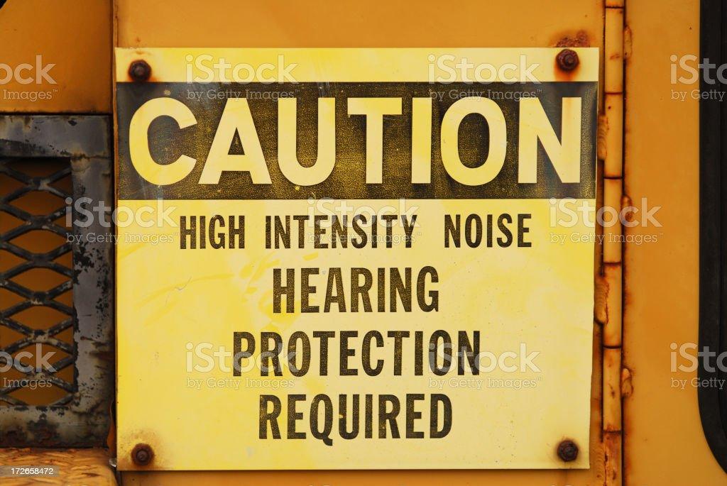 Noise Caution Sign stock photo