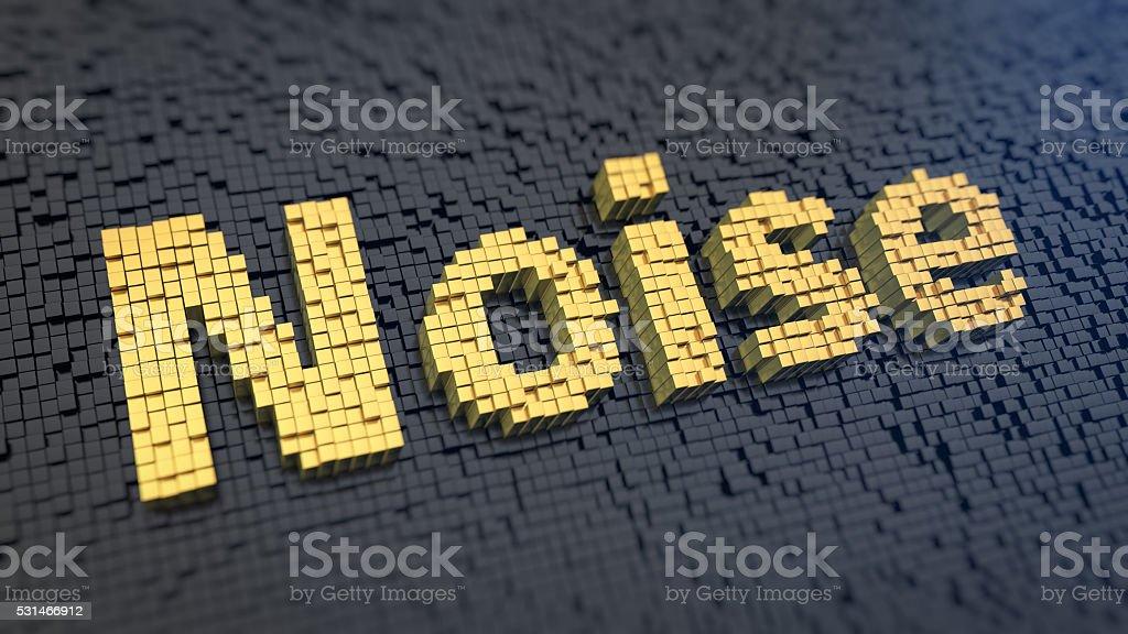 Noise cubics word stock photo