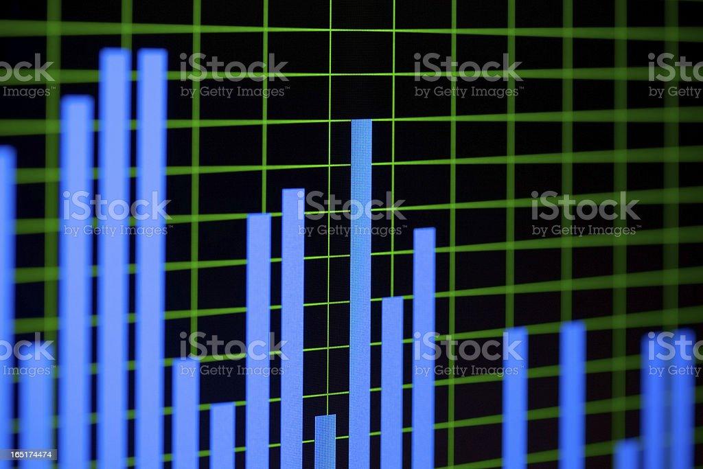 Noise gistogram royalty-free stock photo