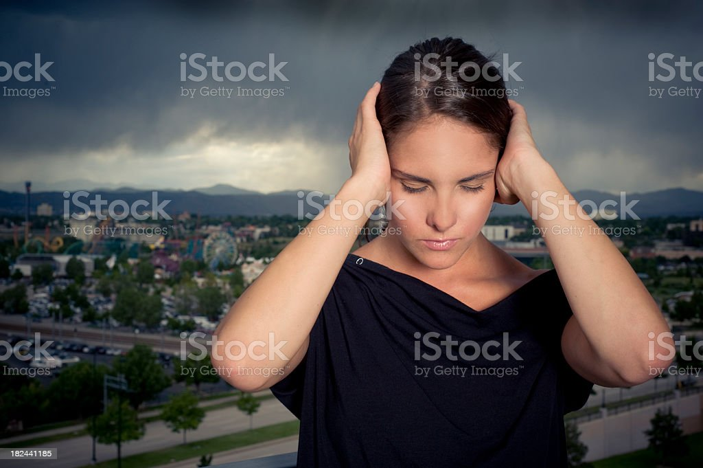 Noise Level royalty-free stock photo
